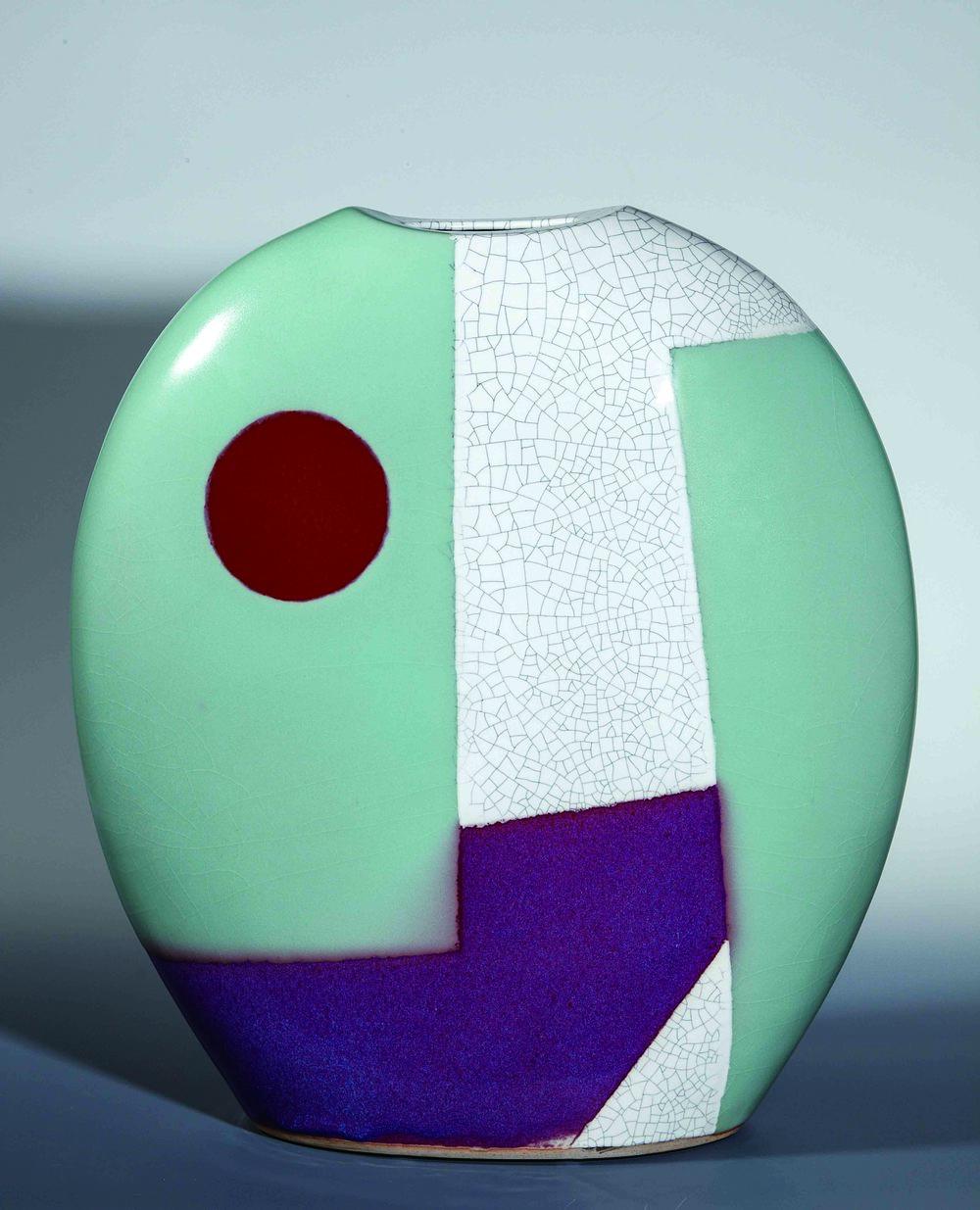 林振龍 空間釉彩圓扁瓶