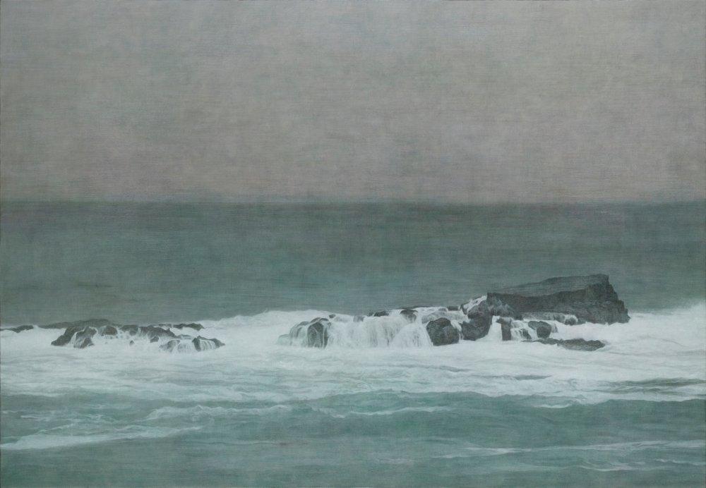 陳孟澤 海之唄 112x162cm 油彩、蛋彩混合技法 2016