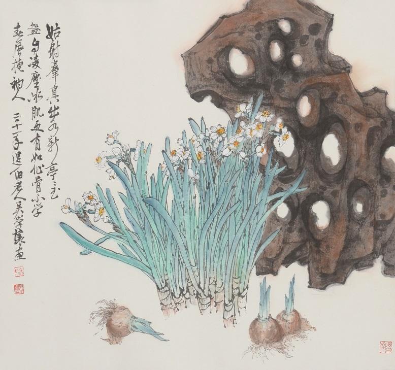 吳學讓 水仙圖 64.5x69.5cm 2011 水墨紙本
