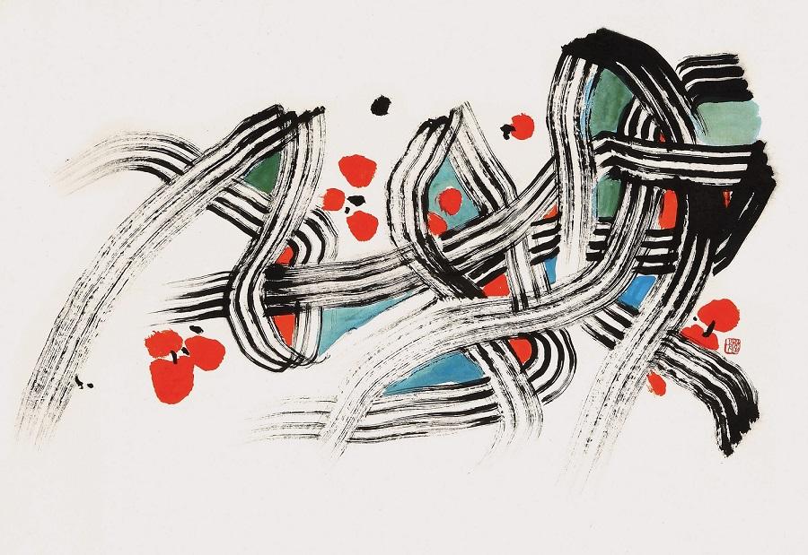 楚戈 春之舞曲 44x63.5cm 水墨設色紙本
