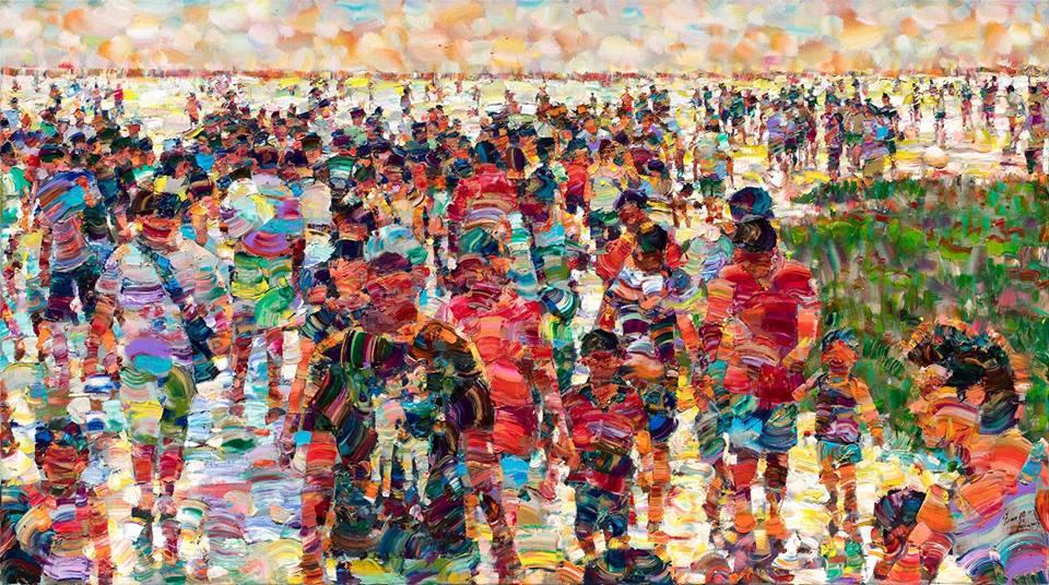 高美濕地 110x196 cm 2016 油彩畫布
