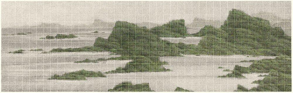 彼岸何處 55×173.5cm 2017 設色紙本