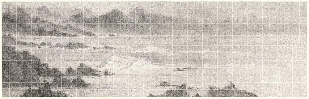 李君毅 迷離岸 55 x 173.5 cm 2017 水墨紙本