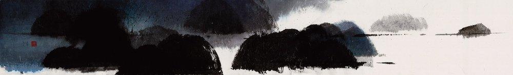 馮永基 天地凡間(三) 27 x 197 cm 水墨紙本