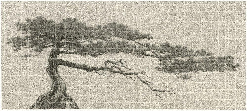 李君毅 彼此 81.5 x 183 cm 2017 水墨紙本