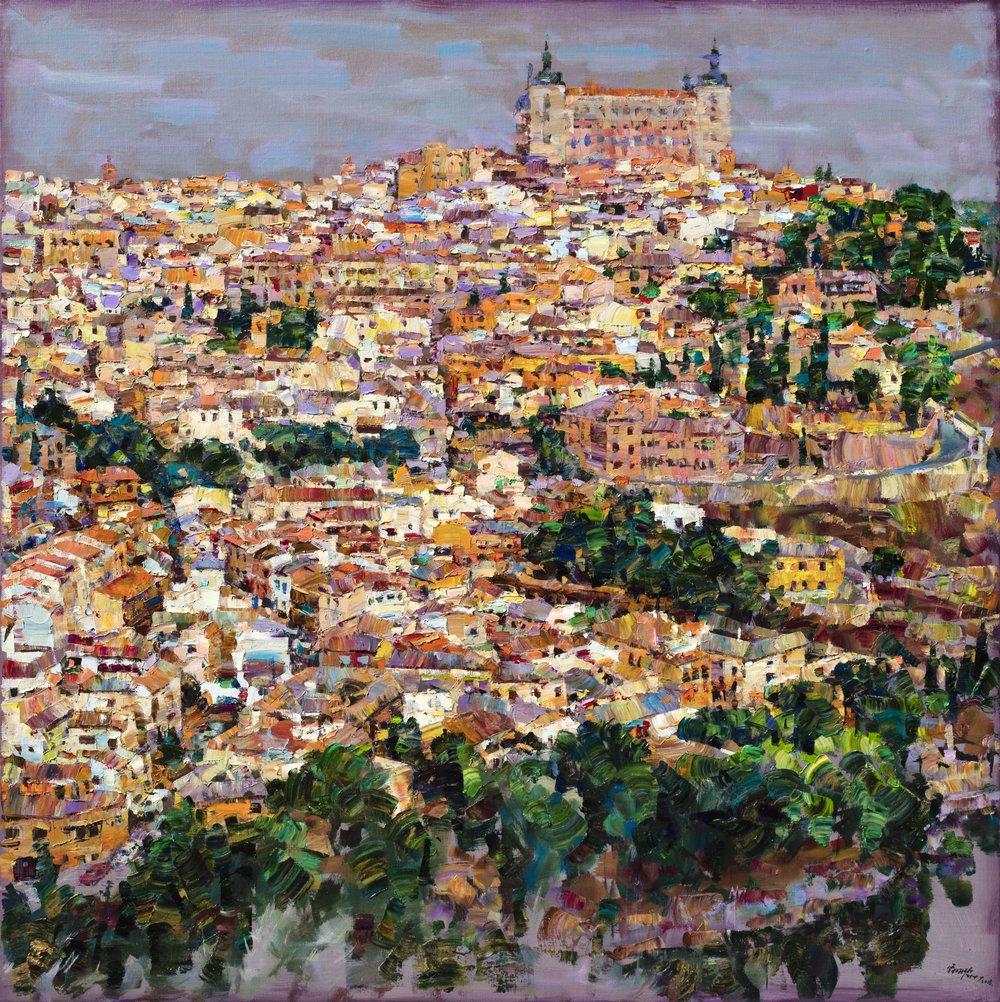托雷多的美麗與哀愁 155.5×155.5cm 2018 油彩畫布
