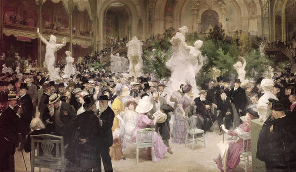 """Friday at the Salon"" Jules Alexandre Grun, 1911"