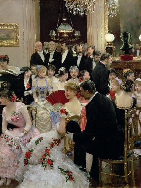 """The Soiree"" Jean Beraud, 1880"