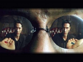fig 1:  Neo eye view. Lana & Lilly Wachowski (as the Wachowski Brothers), 1999:  The Matrix.  Warner Bros