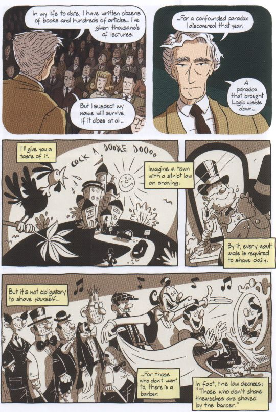 fig 6:  Russell's Paradox p.164:   Logicomix  .