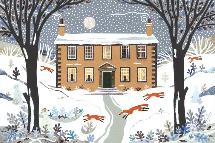 The Yorkshire home of the Bronte sisters, a winter fantasy.