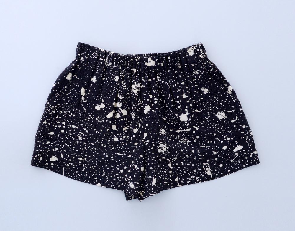 Gillian Tennant Printed Silk Shorts