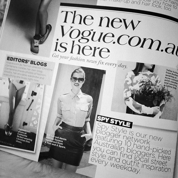 Vogue Australia, November 2012