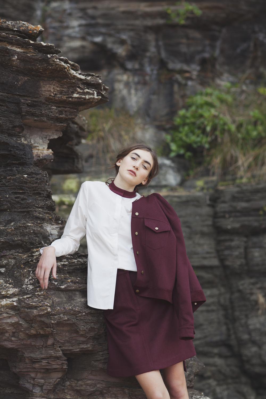 Antipodium shirt, Dress Up skirt and jacket
