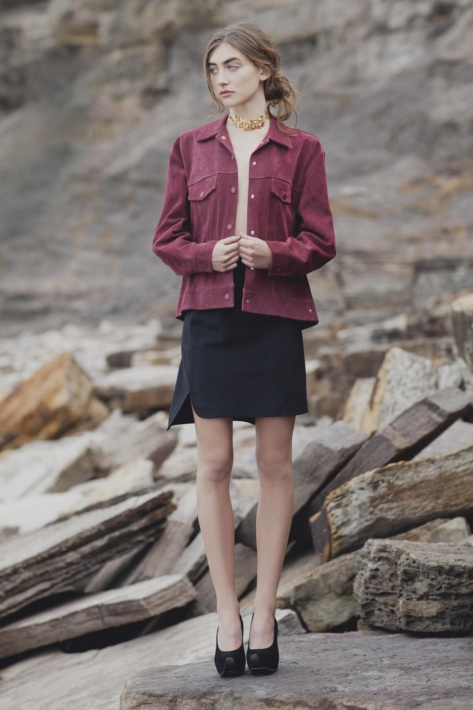 Acne jacket, CO | TE skirt from Mychameleon, Estelle Deve choker from Mychameleon, Acne shoes