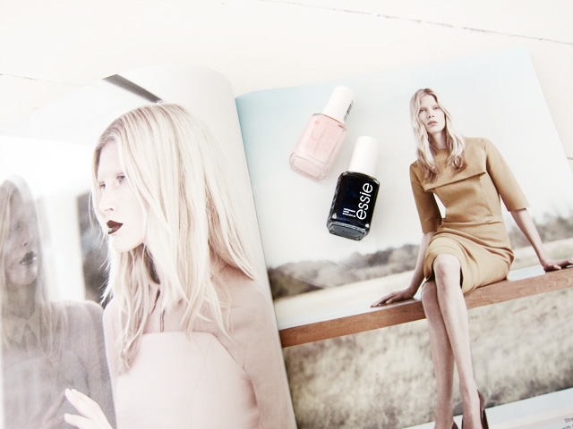 COS magazine and Essie nail polish