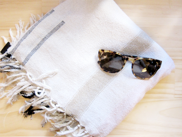 Isabel Marant scarf, Kate Sylvester sunglasses