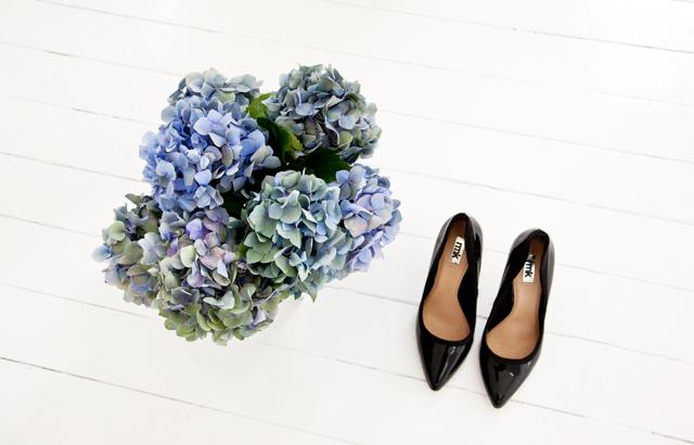 Hydrangeas from the local markets, RMK heels