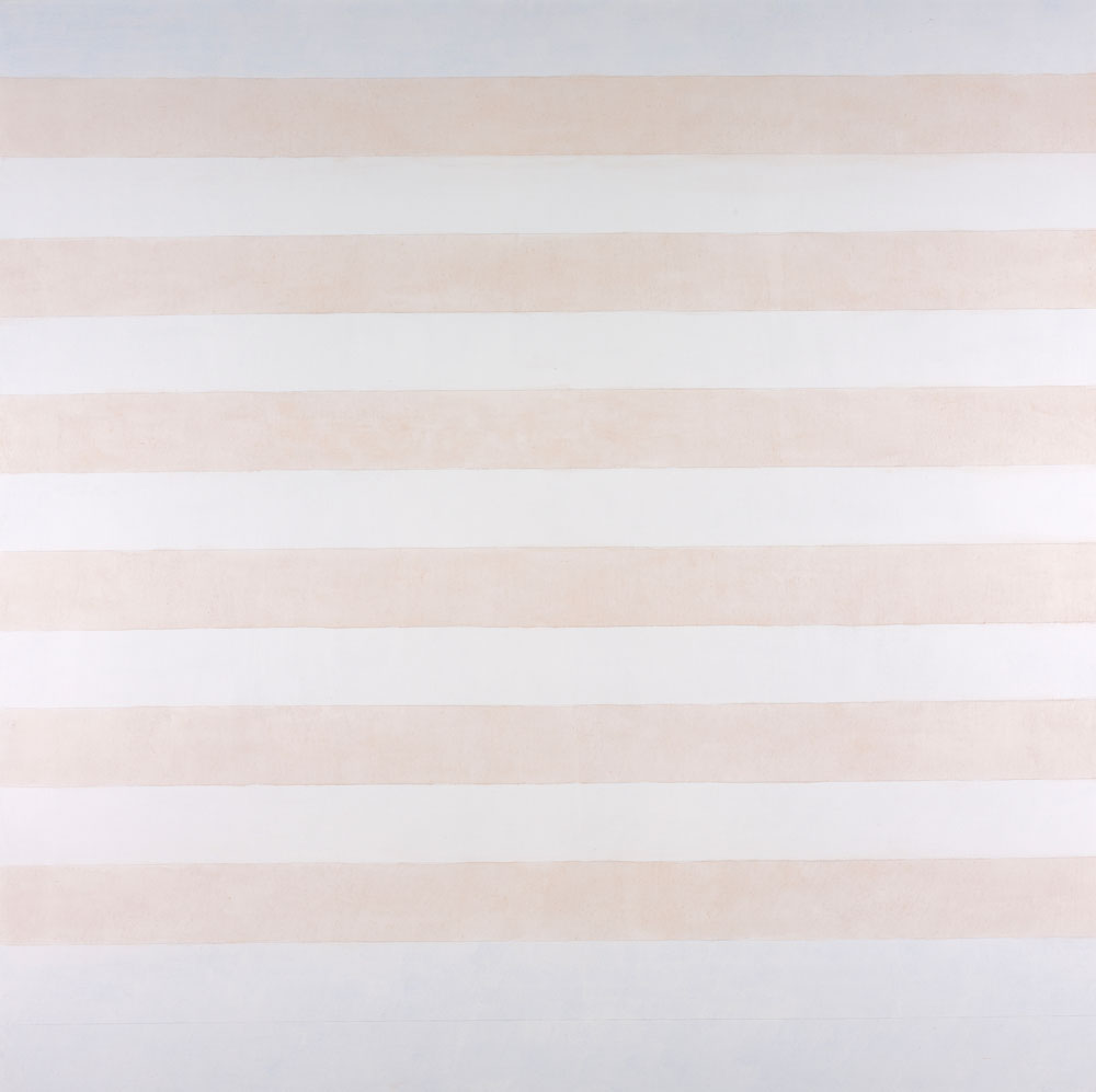 Agnes Martin, Happy Holiday, 1999; Acrylic and graphite on canvas