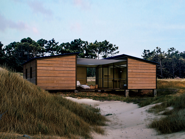 1-3. Louis Vuitton Pre-Fall via Style.com, 4. House designed by Charlotte Perriand on display in Miami