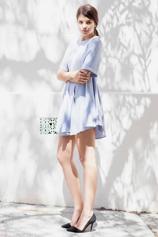 Unif.m tunic, Zara pumps, Catbird & Dior rings