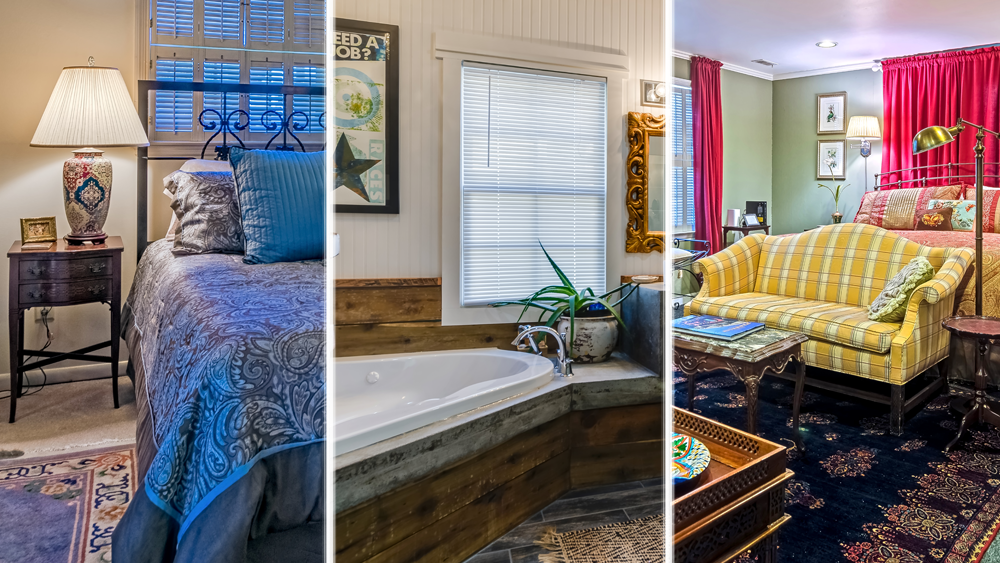 All three of our Downtown Franklin, TN vacation rental homes