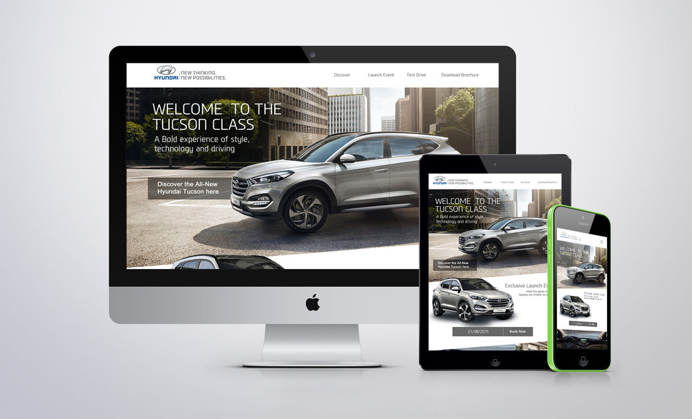 Web design for Hyundai