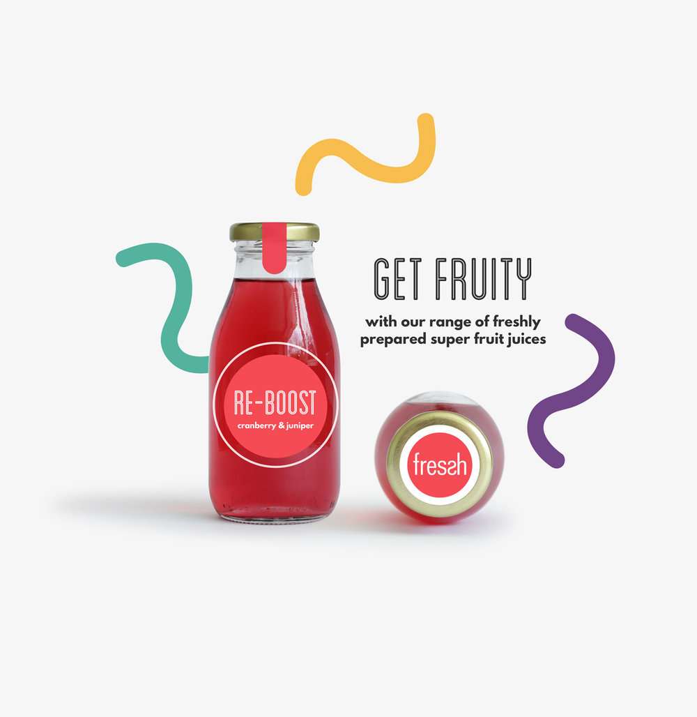 Organic Fruit drink packaging design