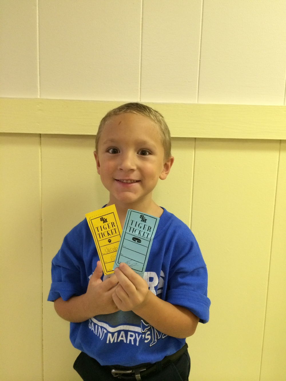 Jacob Thibodeaux and his Tiger Tickets