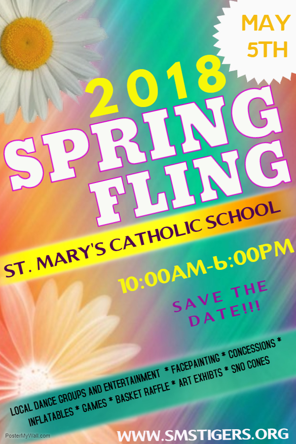 Spring Fling is back!!  Teachers will be contacting you about booths and raffle baskets.  If you would like to help in anyway, let your teacher know!! -