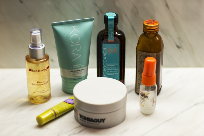 Bianca's skin and hair essentials