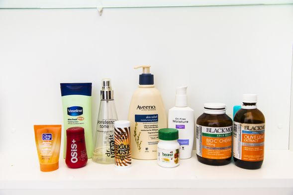 Inside the cabinet: Vaseline, Schwartzkopf, Dr Brandt Poreless, Aveno, Neutrogena and Blackmores supplements