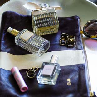 Fragrant essentials and an assortment of rings