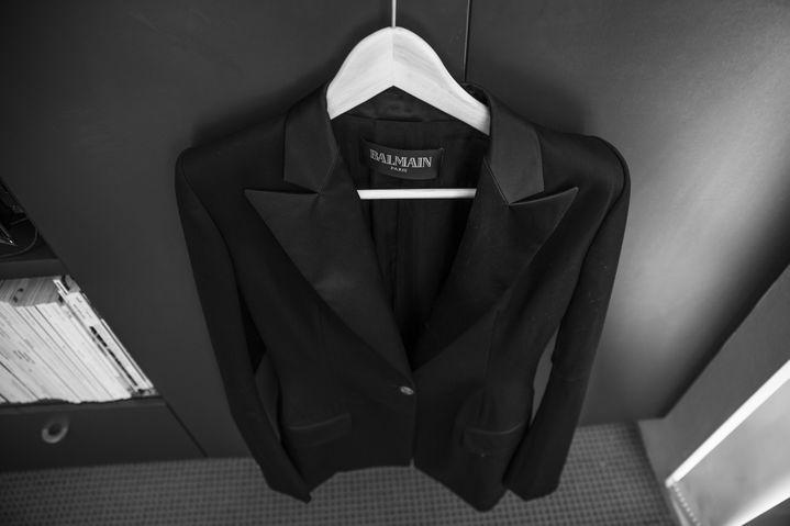 Elle's treasured Balmain blazer