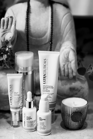 Ultraceuticals and Hydropeptides form the basis of Joss's skincare routine.