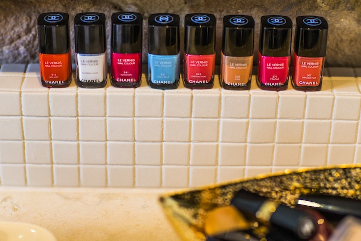 Chanel Les Vernis polishes are Joss's nail varnish of choice.
