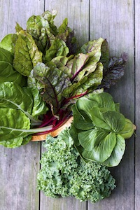 Wash greens well to remove pesticides and bugs.