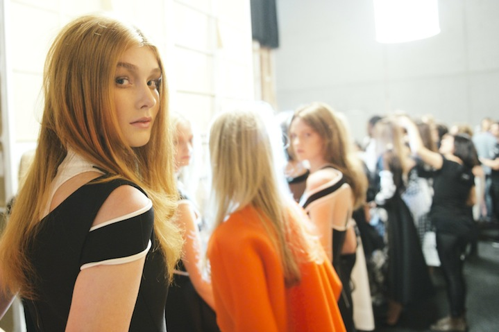 Backstage at Maticevski. Photo: GHD