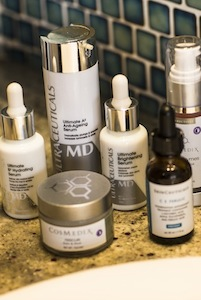 Active skin essentials: Ultraceuticals, Skinceuticals and Cosmedix.