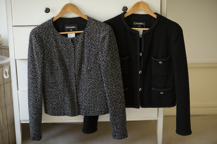 Jackets like these Chanel tweed jackets are a style staple of Kelly.