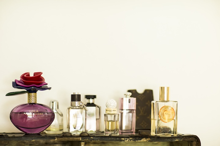 Making scents: Marc Jacobs Lola, Kelly Caleche, Stella McCartney, Balenciaga, Dior Addict and Estee Lauder Bronze Goddess