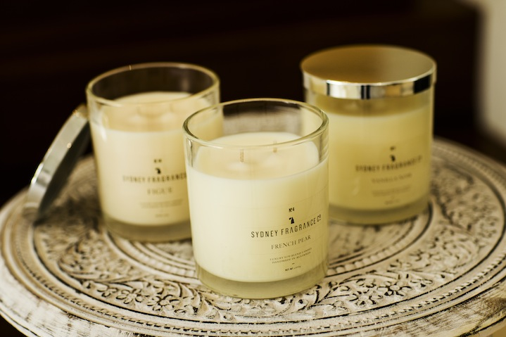 Kelly fills her home with scented French Pear candles by Sydney Fragrance Co
