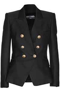 Balmain Cotton and Silk-Blend Six Button Jacket