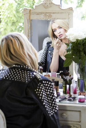 Laura has a multitude of makeup products to experiment with
