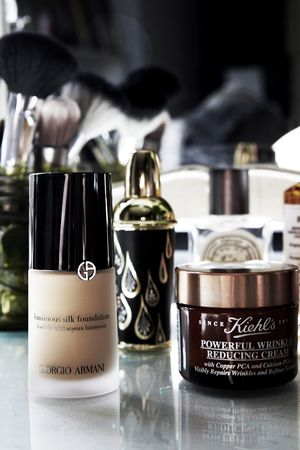 Giorgio Armani Foundation is a Fixture in her Beauty Bag