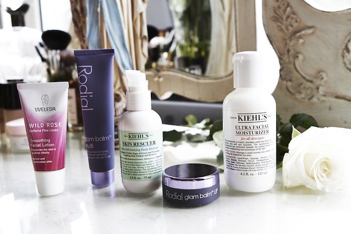 Kiehls, Rodial and Weleda all contribute to Lauras' glowing skin