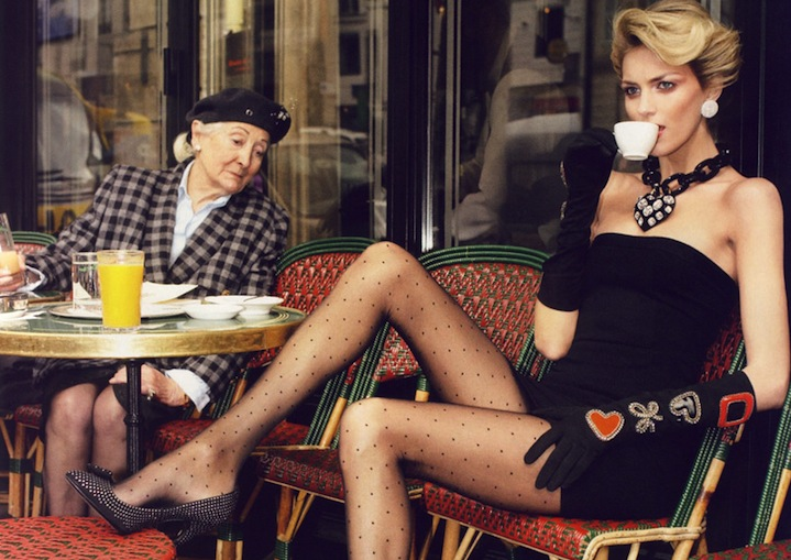 Beauticate loves: Anja Rubik photographed by Terry Richardson for French Vogue.