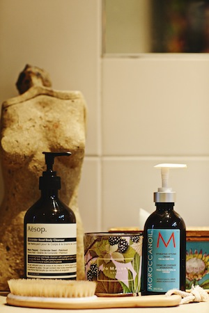 Aesop Body Cleanser, Moroccan Oil and Dry Body Brushing are some of Jessica's best hair and body secrets