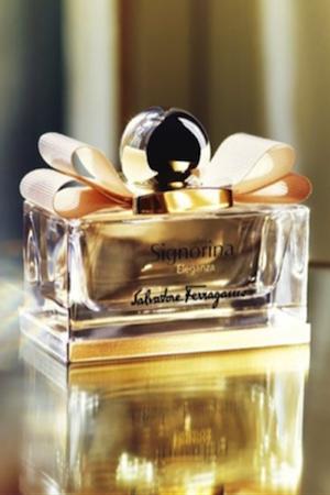 Anja is the face of Ferragamo's new scent,Signorina Eleganza