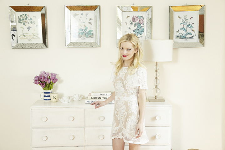 Elle has a love of lace dresses and a penchant for interiors